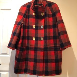 Orange/Red/Black double breast Coat
